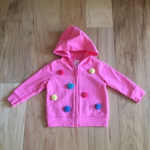 Girls pink zip up hoodie